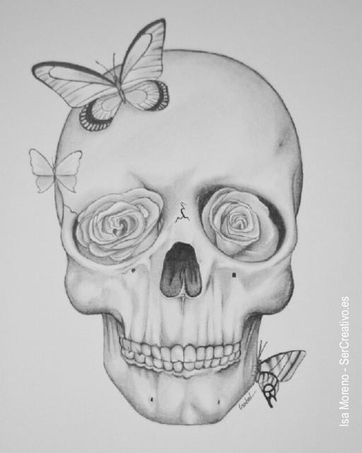 Dibujos a lapiz calavera - Imagui