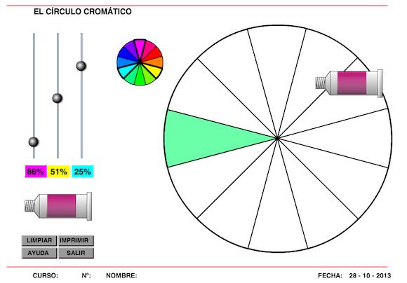 Circulo cromatico online