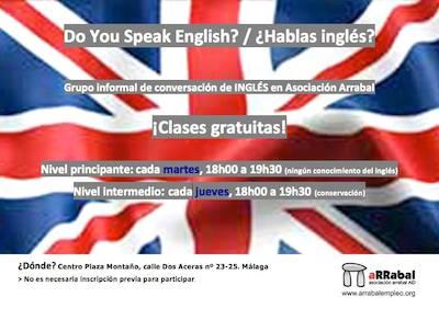 Free English classes in Malaga