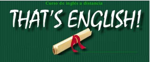 Curso de inglés a distancia That's English!