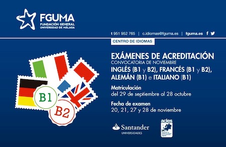 Exámenes para B1 y B2 de Inglés, frances y alemán