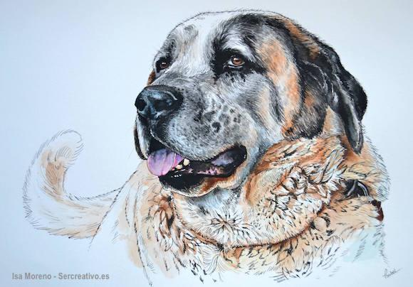 Miguelón (alias Big Mig)  perro mastín dibujado