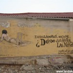 "Graffiti: ""¿Dónde jugarán las niñas?"""