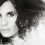 Diana Navarro dibujada  a lápiz grafito y carbón por Victor Manjón