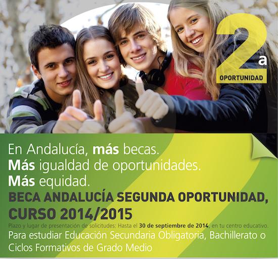 Beca Andalucía Segunda Oportunidad 2014/2015