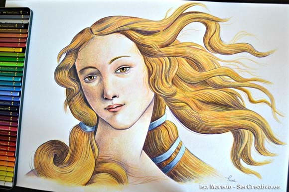 Isabel Moreno's work based on The Birth of Venus painted by Sandro Botticelli between 1482 and 1485