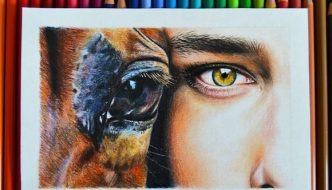 a little drawing of these two handsome guys with polychromos