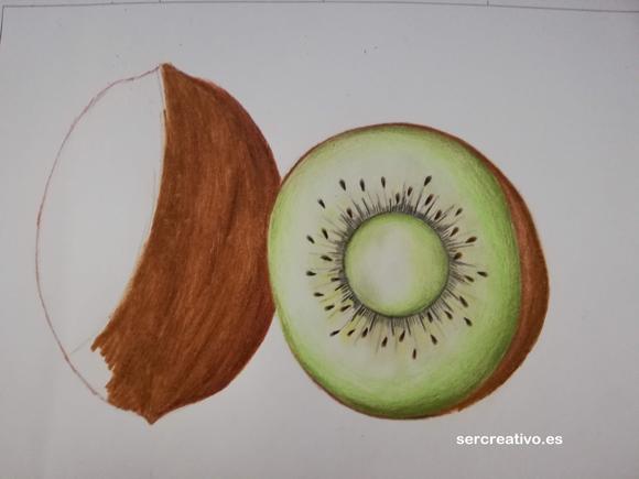 Coloreando Dibujo de Kiwi de Gisela