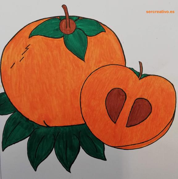 Dibujo de Caqui de Mariella